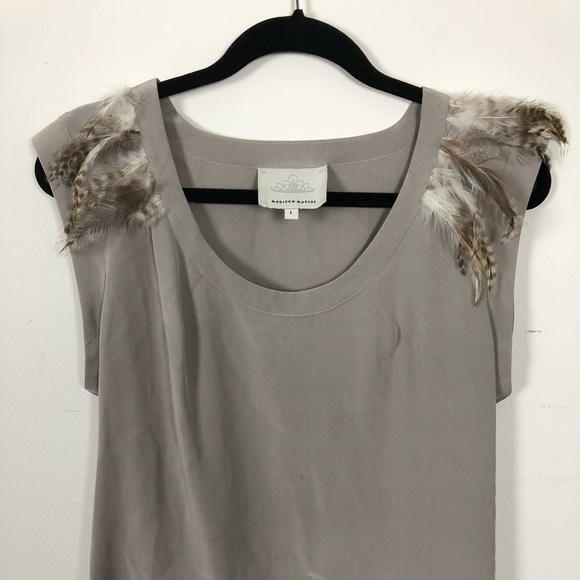 Madison Marcus Leather Accented Silk Sleeveless Top Best Store To Get For Sale Sale For Sale Cheap Sale Affordable DBWOlMl